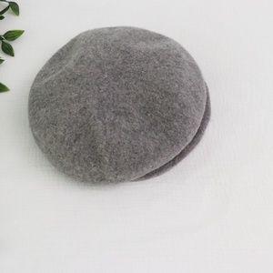 Grey Wool Paper Boy Hat M/L